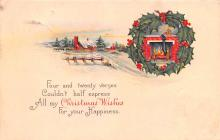 hol051657 - Christmas Postcard Old Vintage Antique Post Card