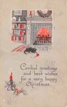 hol051665 - Christmas Postcard Old Vintage Antique Post Card