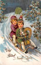 hol051667 - Christmas Postcard Old Vintage Antique Post Card