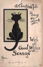 hol051669 - Christmas Postcard Old Vintage Antique Post Card