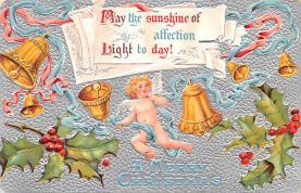 hol051671 - Christmas Postcard Old Vintage Antique Post Card