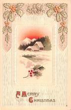 hol051673 - Christmas Postcard Old Vintage Antique Post Card