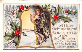 hol051675 - Christmas Postcard Old Vintage Antique Post Card