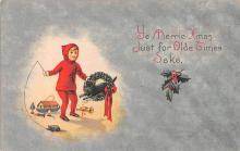 hol051681 - Christmas Postcard Old Vintage Antique Post Card