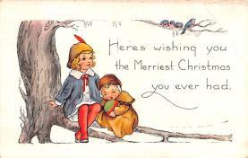 hol051683 - Christmas Postcard Old Vintage Antique Post Card