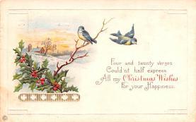 hol051691 - Christmas Postcard Old Vintage Antique Post Card