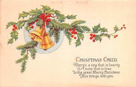 hol051693 - Christmas Postcard Old Vintage Antique Post Card