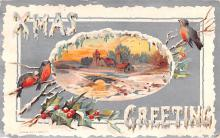 hol051695 - Christmas Postcard Old Vintage Antique Post Card
