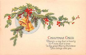 hol051699 - Christmas Postcard Old Vintage Antique Post Card