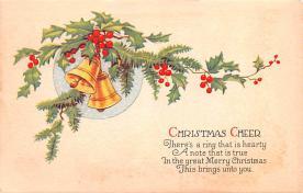hol051701 - Christmas Postcard Old Vintage Antique Post Card