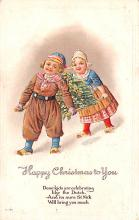hol051703 - Christmas Postcard Old Vintage Antique Post Card