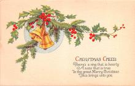 hol051709 - Christmas Postcard Old Vintage Antique Post Card