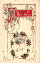 hol051713 - Christmas Postcard Old Vintage Antique Post Card
