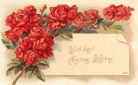 hol051715 - Christmas Postcard Old Vintage Antique Post Card