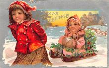 hol051717 - Christmas Postcard Old Vintage Antique Post Card