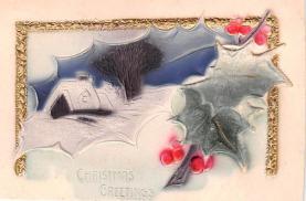 hol051723 - Christmas Postcard Old Vintage Antique Post Card