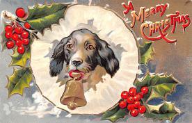hol051725 - Christmas Postcard Old Vintage Antique Post Card