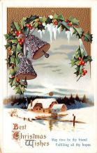 hol051729 - Christmas Postcard Old Vintage Antique Post Card