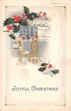 hol051733 - Christmas Postcard Old Vintage Antique Post Card