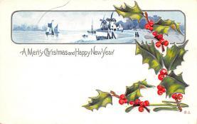 hol051735 - Christmas Postcard Old Vintage Antique Post Card