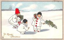 hol051745 - Christmas Postcard Old Vintage Antique Post Card