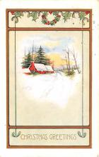 hol051751 - Christmas Postcard Old Vintage Antique Post Card