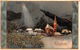 hol051753 - Christmas Postcard Old Vintage Antique Post Card