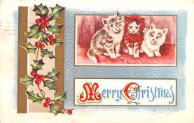 hol051755 - Christmas Postcard Old Vintage Antique Post Card