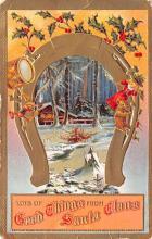 hol051757 - Christmas Postcard Old Vintage Antique Post Card