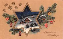 hol051759 - Christmas Postcard Old Vintage Antique Post Card