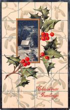 hol051761 - Christmas Postcard Old Vintage Antique Post Card