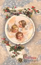 hol051763 - Christmas Postcard Old Vintage Antique Post Card