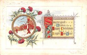 hol051765 - Christmas Postcard Old Vintage Antique Post Card