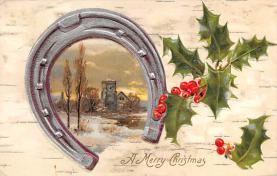 hol051767 - Christmas Postcard Old Vintage Antique Post Card