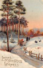 hol051771 - Christmas Postcard Old Vintage Antique Post Card