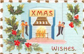 hol051773 - Christmas Postcard Old Vintage Antique Post Card