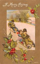 hol051777 - Christmas Postcard Old Vintage Antique Post Card