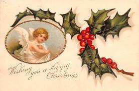 hol051793 - Christmas Postcard Old Vintage Antique Post Card