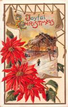 hol051795 - Christmas Postcard Old Vintage Antique Post Card