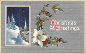 hol051797 - Christmas Postcard Old Vintage Antique Post Card