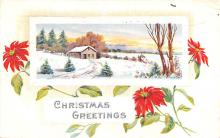 hol051799 - Christmas Postcard Old Vintage Antique Post Card