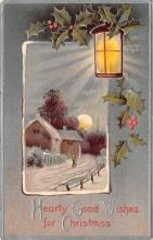 hol051801 - Christmas Postcard Old Vintage Antique Post Card