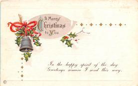 hol051805 - Christmas Postcard Old Vintage Antique Post Card