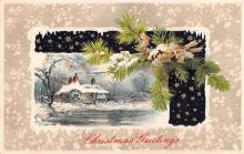 hol051807 - Christmas Postcard Old Vintage Antique Post Card