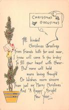 hol051809 - Christmas Postcard Old Vintage Antique Post Card