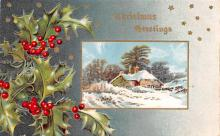 hol051813 - Christmas Postcard Old Vintage Antique Post Card