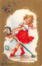 hol051815 - Christmas Postcard Old Vintage Antique Post Card
