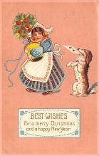 hol051817 - Christmas Postcard Old Vintage Antique Post Card