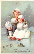 hol051819 - Christmas Postcard Old Vintage Antique Post Card