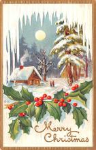 hol051821 - Christmas Postcard Old Vintage Antique Post Card